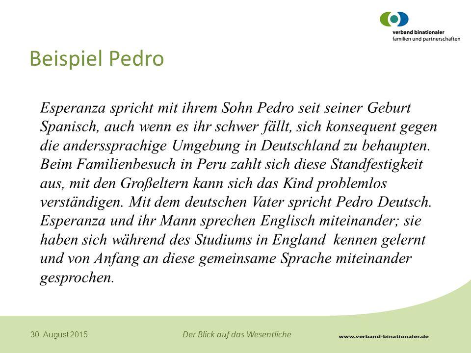 Beispiel Pedro