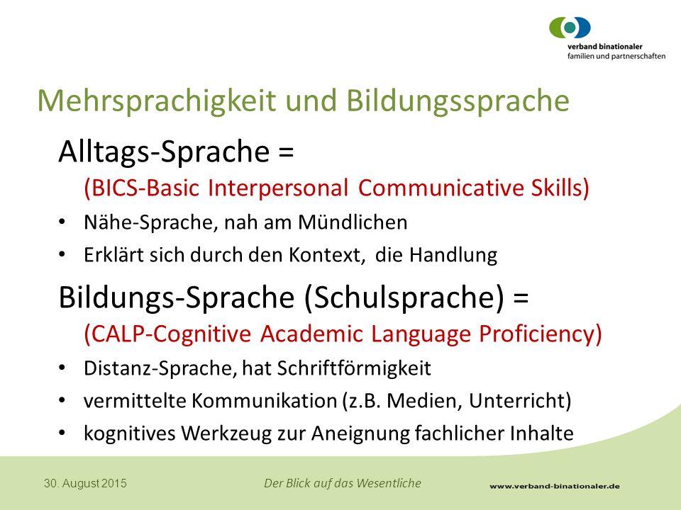 Mehrsprachigkeit und Bildungssprache