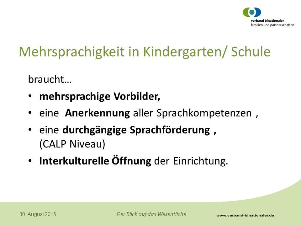 Mehrsprachigkeit in Kindergarten/ Schule