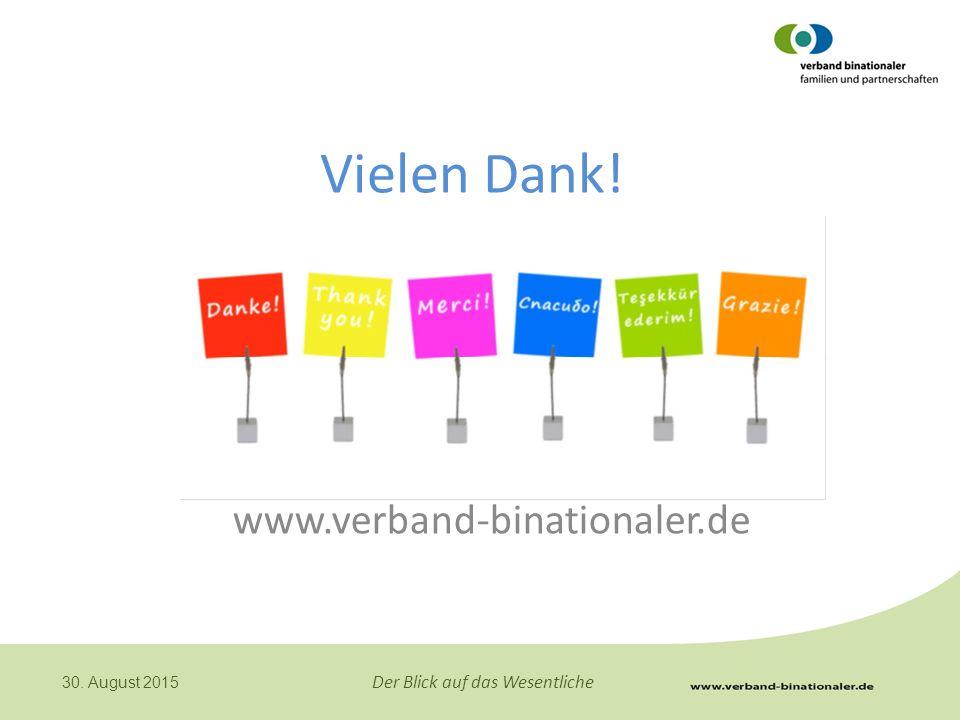 Vielen Dank! www.verband-binationaler.de