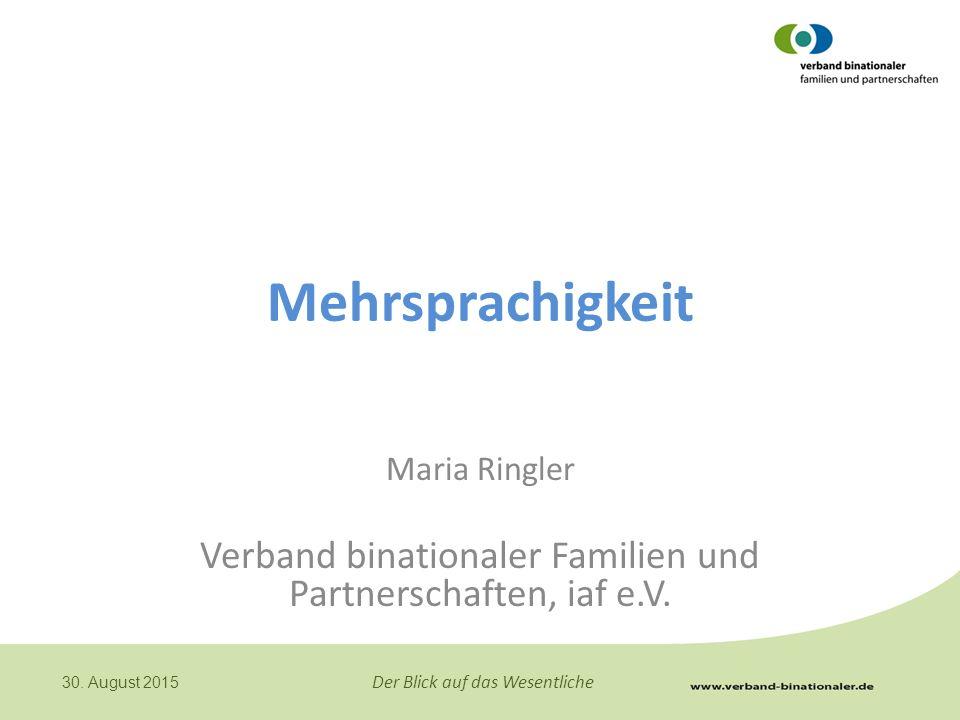 Verband binationaler Familien und Partnerschaften, iaf e.V.