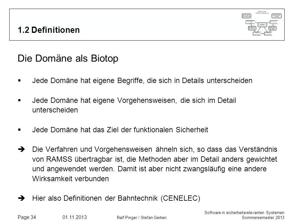 Die Domäne als Biotop 1.2 Definitionen