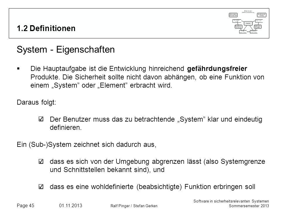 System - Eigenschaften