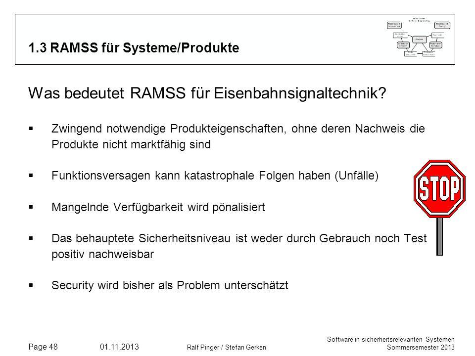 1.3 RAMSS für Systeme/Produkte