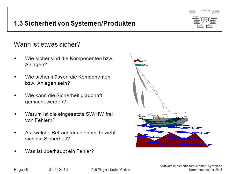 1.3 Sicherheit von Systemen/Produkten