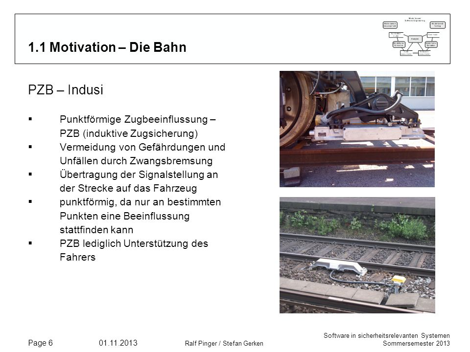 1.1 Motivation – Die Bahn PZB – Indusi