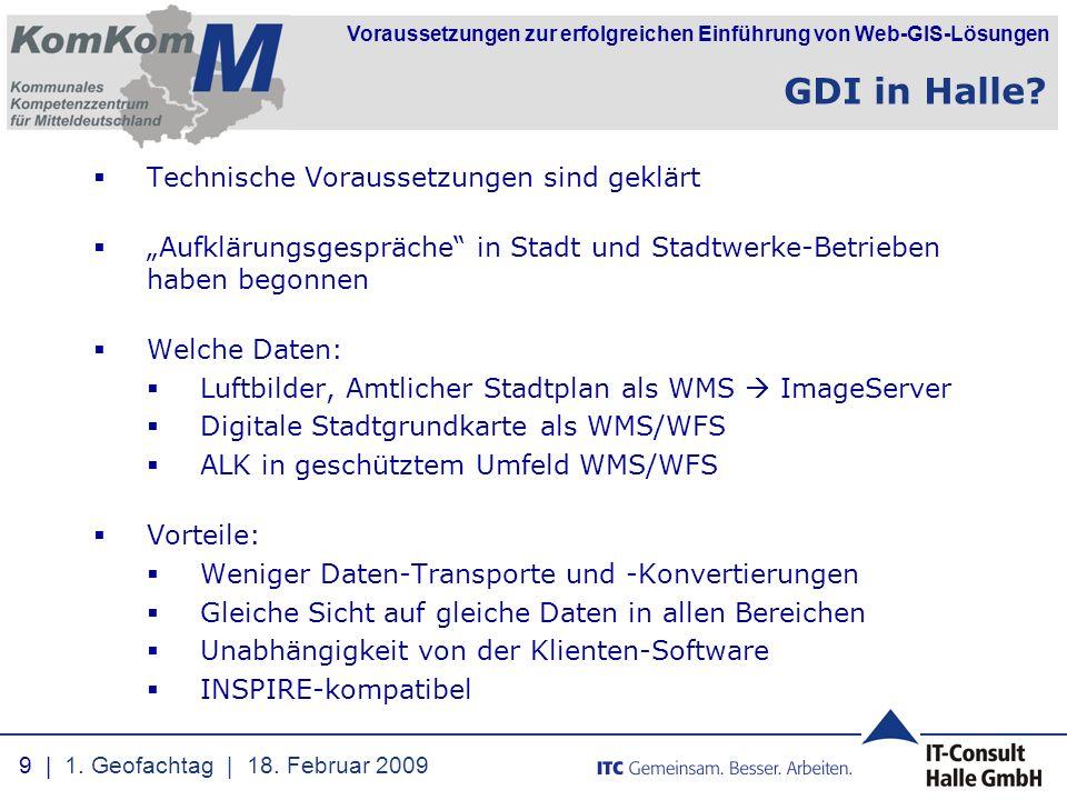 GDI in Halle Technische Voraussetzungen sind geklärt