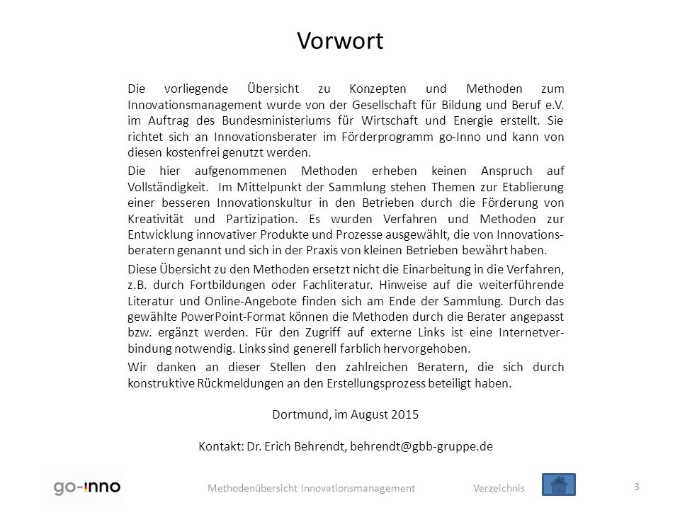 Kontakt: Dr. Erich Behrendt, behrendt@gbb-gruppe.de