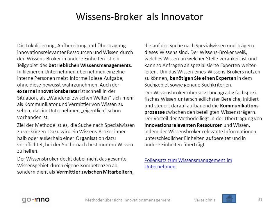 Wissens-Broker als Innovator