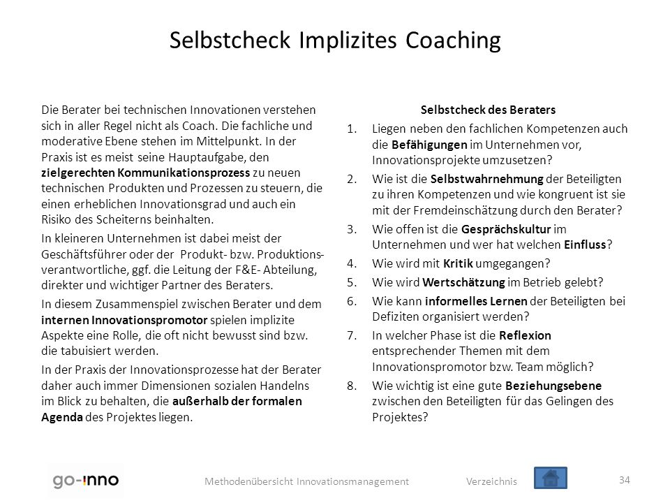 Selbstcheck Implizites Coaching