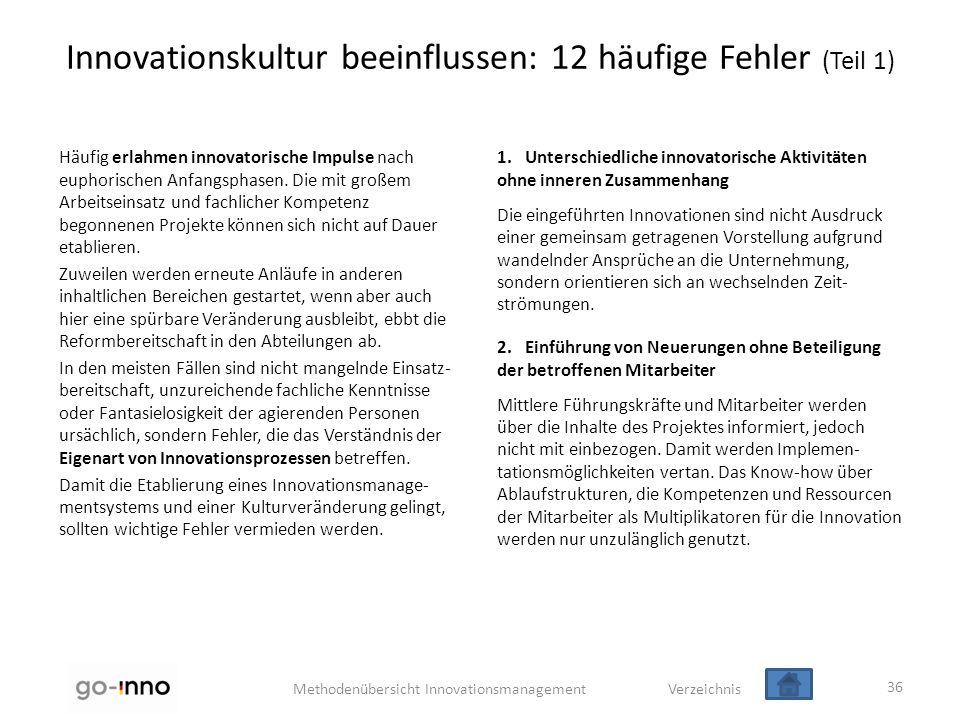 Innovationskultur beeinflussen: 12 häufige Fehler (Teil 1)