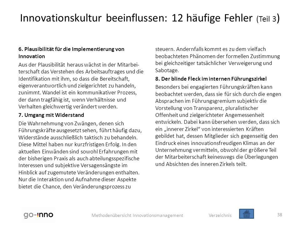 Innovationskultur beeinflussen: 12 häufige Fehler (Teil 3)