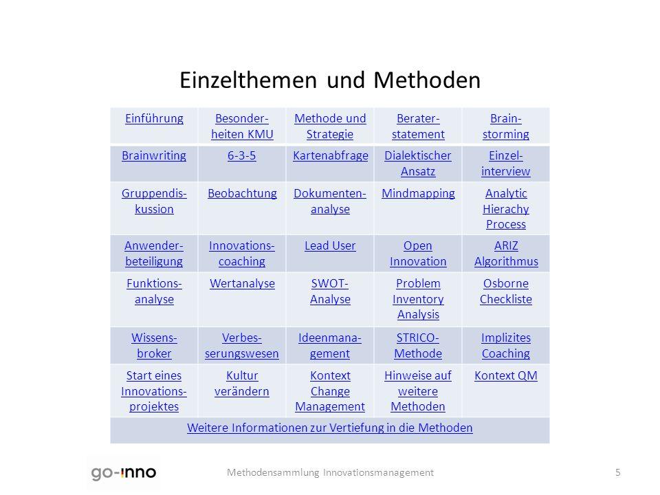 Einzelthemen und Methoden