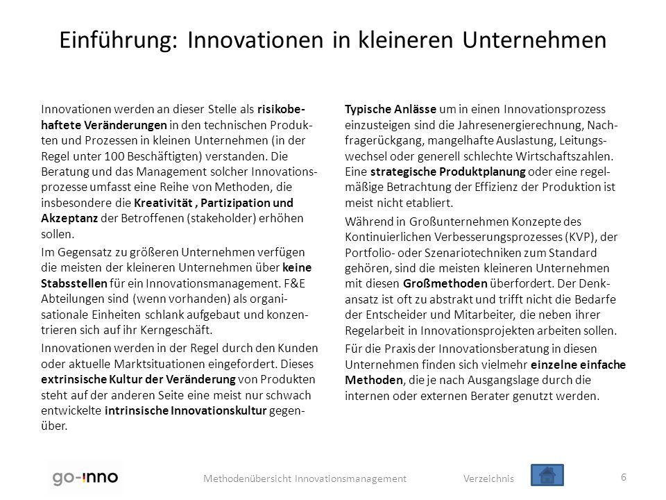 Einführung: Innovationen in kleineren Unternehmen