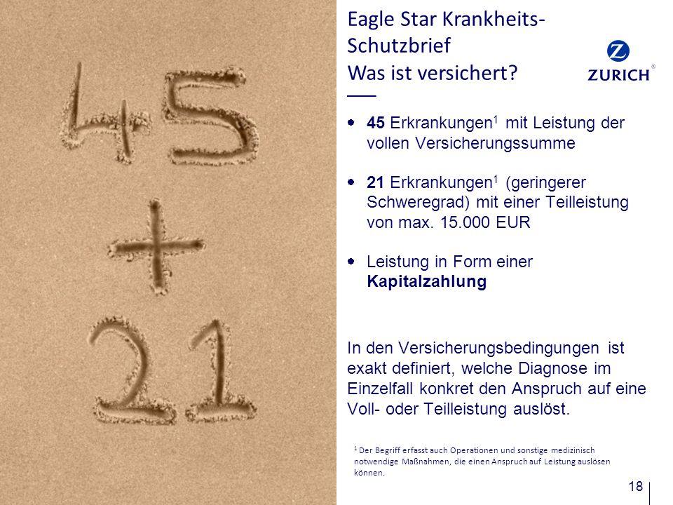 Eagle Star Krankheits-Schutzbrief Was ist versichert