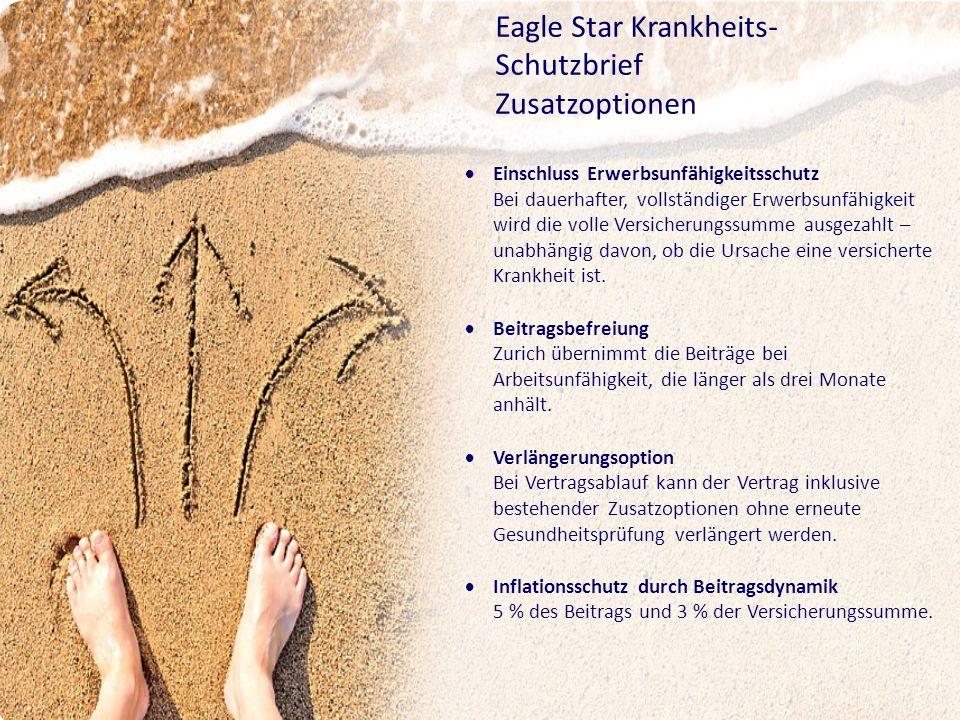 Eagle Star Krankheits-Schutzbrief Zusatzoptionen