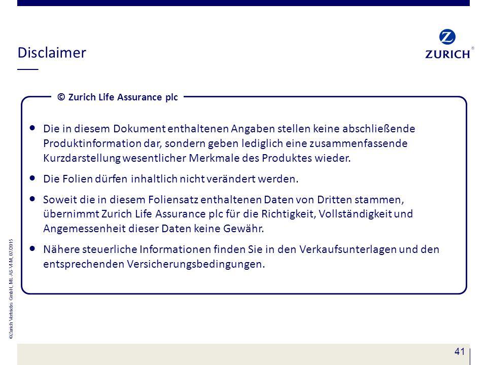 © Zurich Life Assurance plc