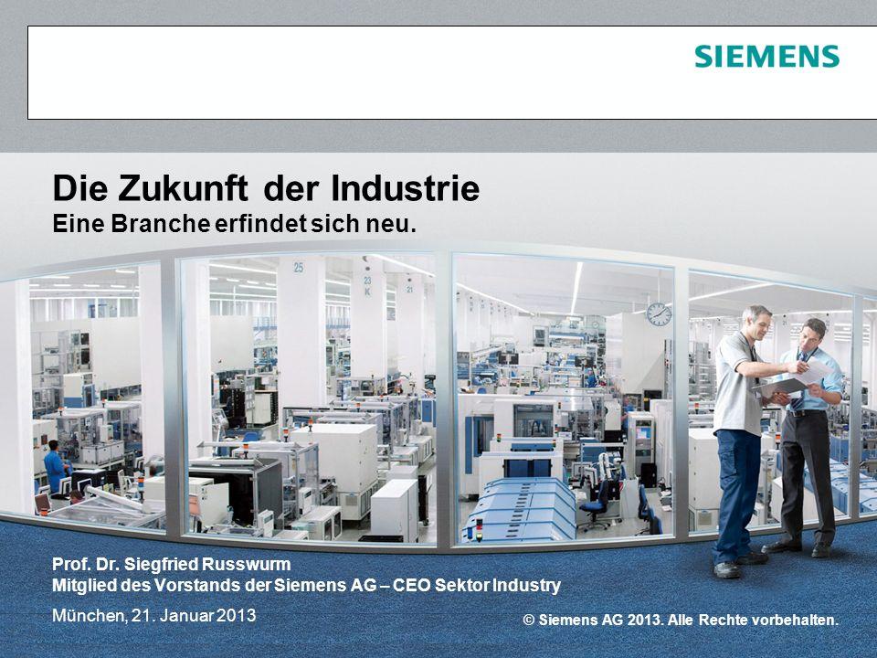 Die Zukunft der Industrie Eine Branche erfindet sich neu.