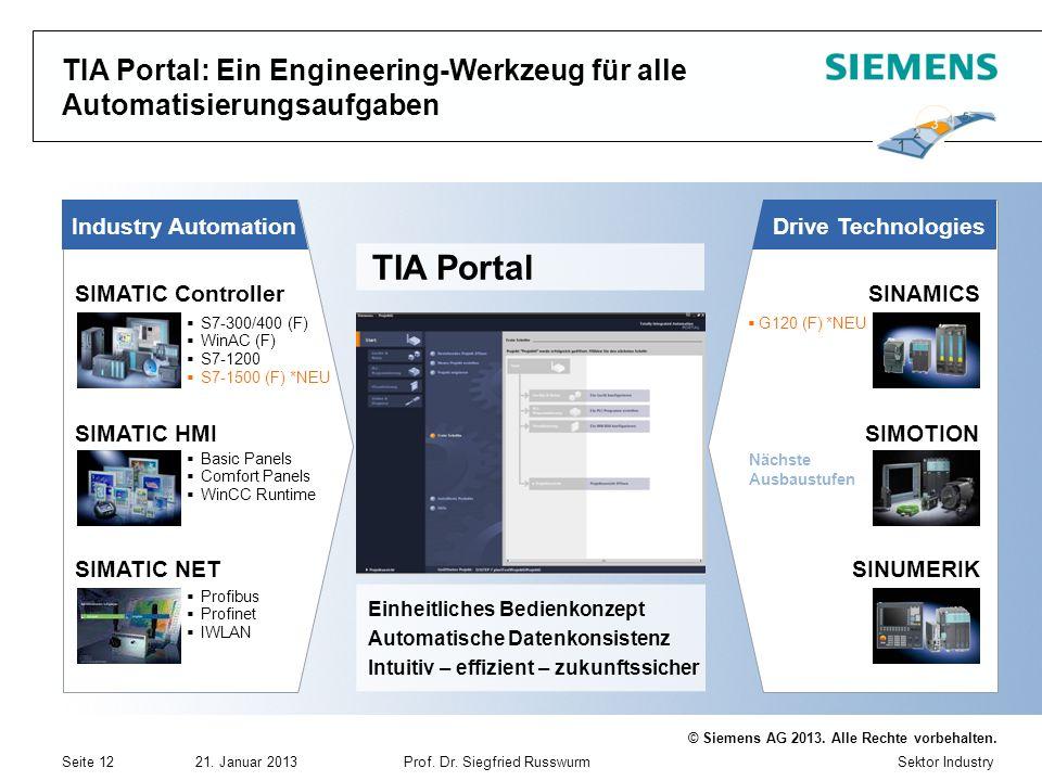 TIA Portal: Ein Engineering-Werkzeug für alle Automatisierungsaufgaben