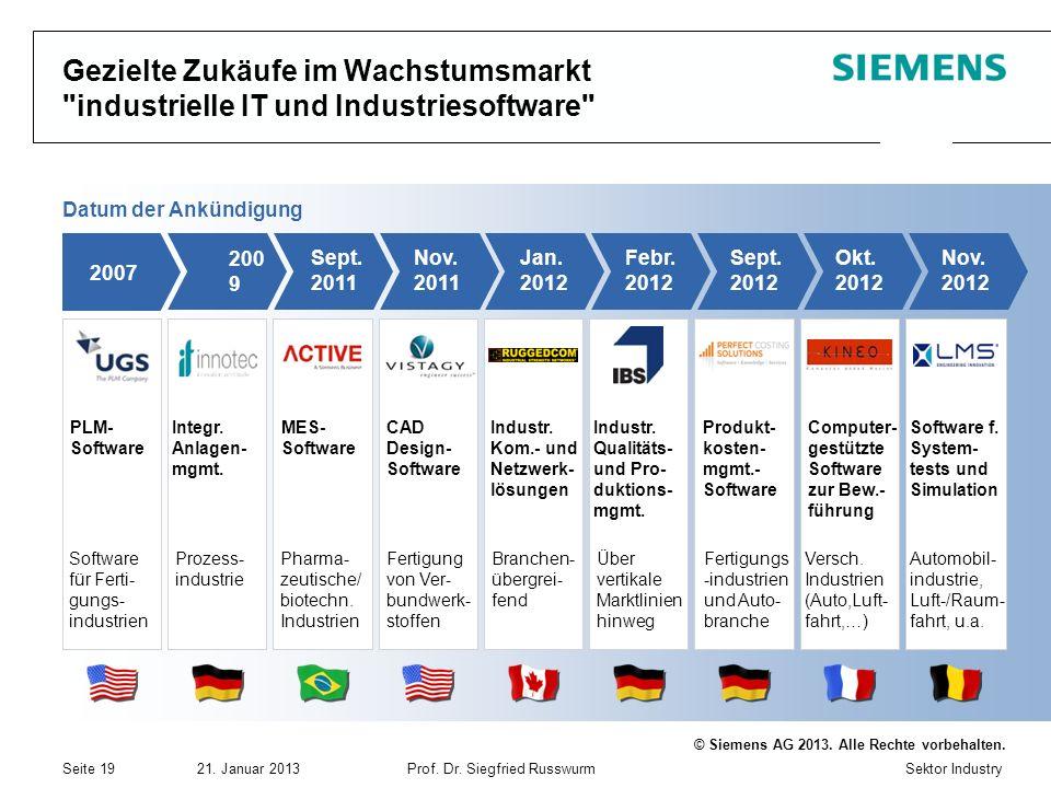 Gezielte Zukäufe im Wachstumsmarkt industrielle IT und Industriesoftware