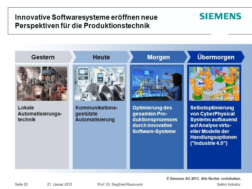 Innovative Softwaresysteme eröffnen neue Perspektiven für die Produktionstechnik