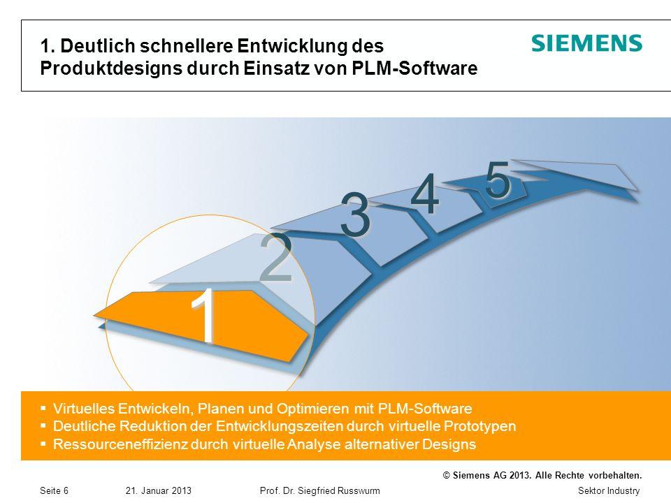 1. Deutlich schnellere Entwicklung des Produktdesigns durch Einsatz von PLM-Software