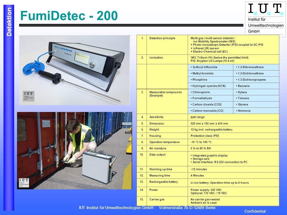 FumiDetec - 200 1. Detection principle
