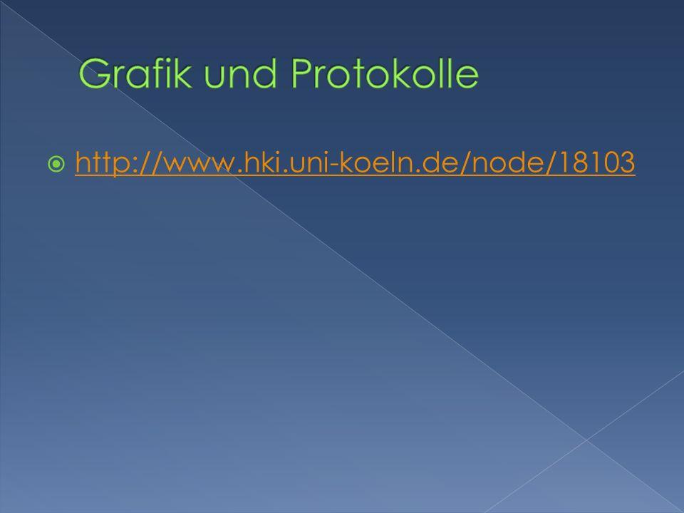 Grafik und Protokolle http://www.hki.uni-koeln.de/node/18103