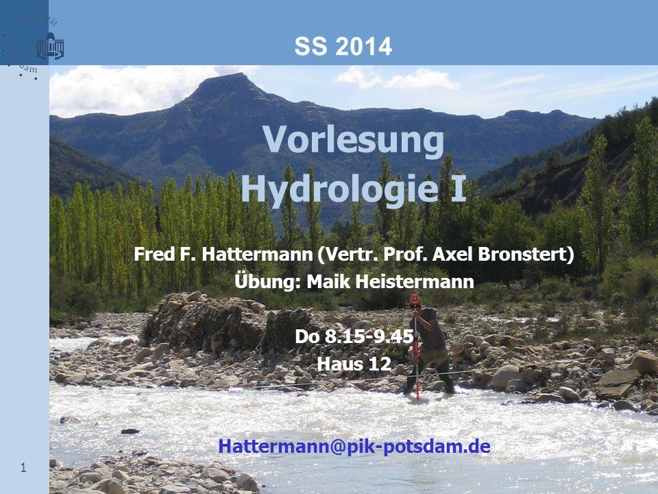Vorlesung Hydrologie I