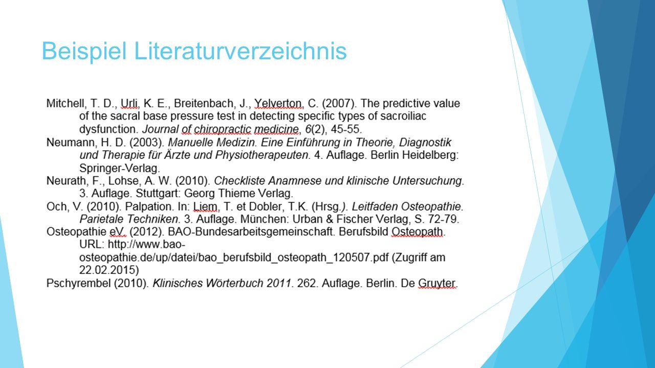 Beispiel Literaturverzeichnis