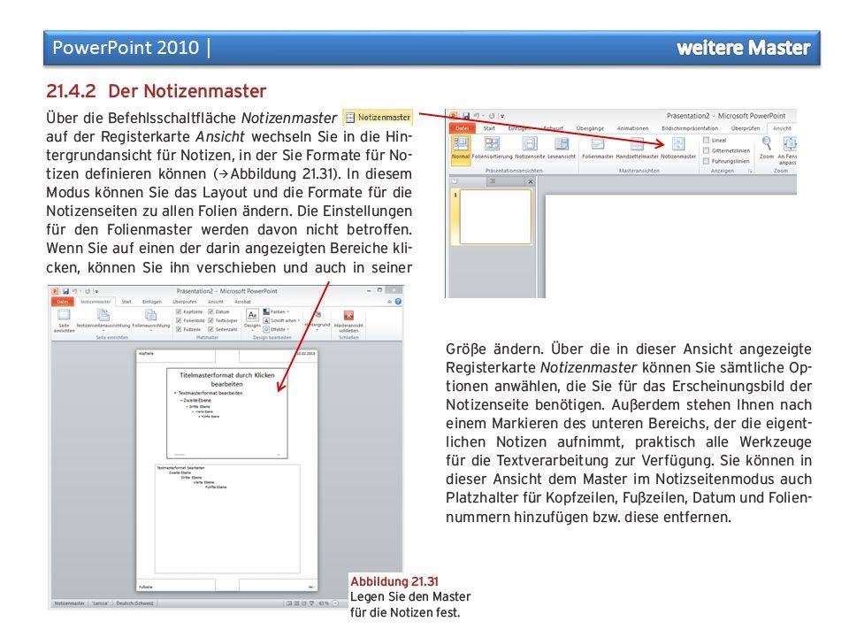 PowerPoint 2010 │ weitere Master