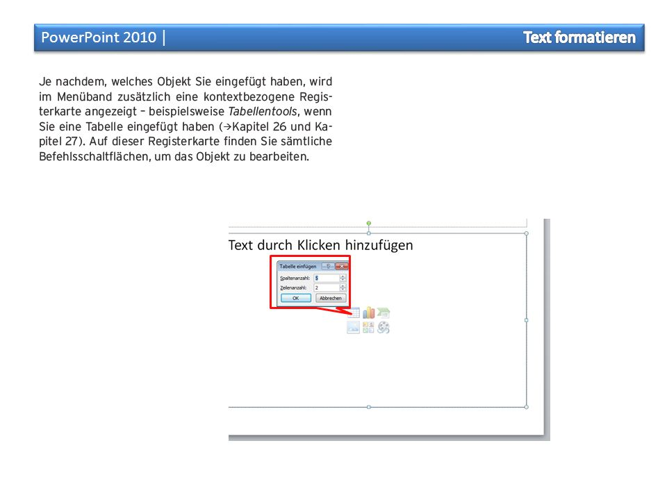 PowerPoint 2010 │ Text formatieren