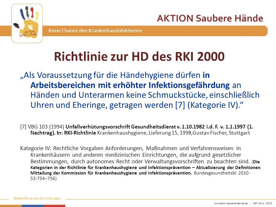 Richtlinie zur HD des RKI 2000