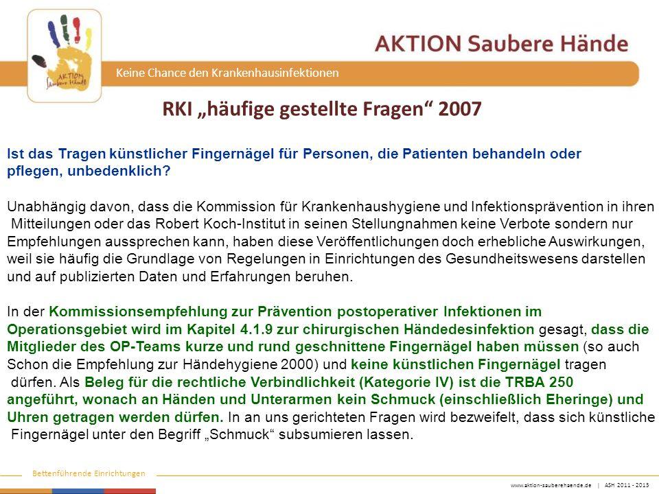"""RKI """"häufige gestellte Fragen 2007"""