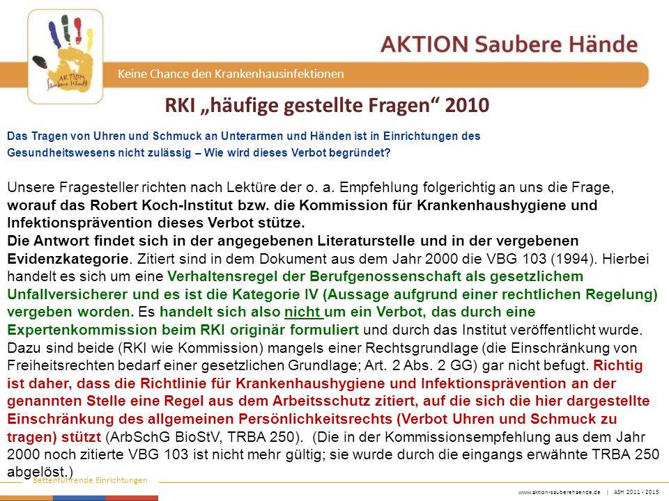 """RKI """"häufige gestellte Fragen 2010"""