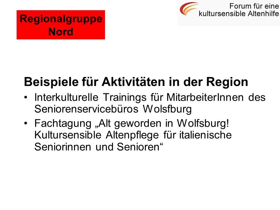 Beispiele für Aktivitäten in der Region