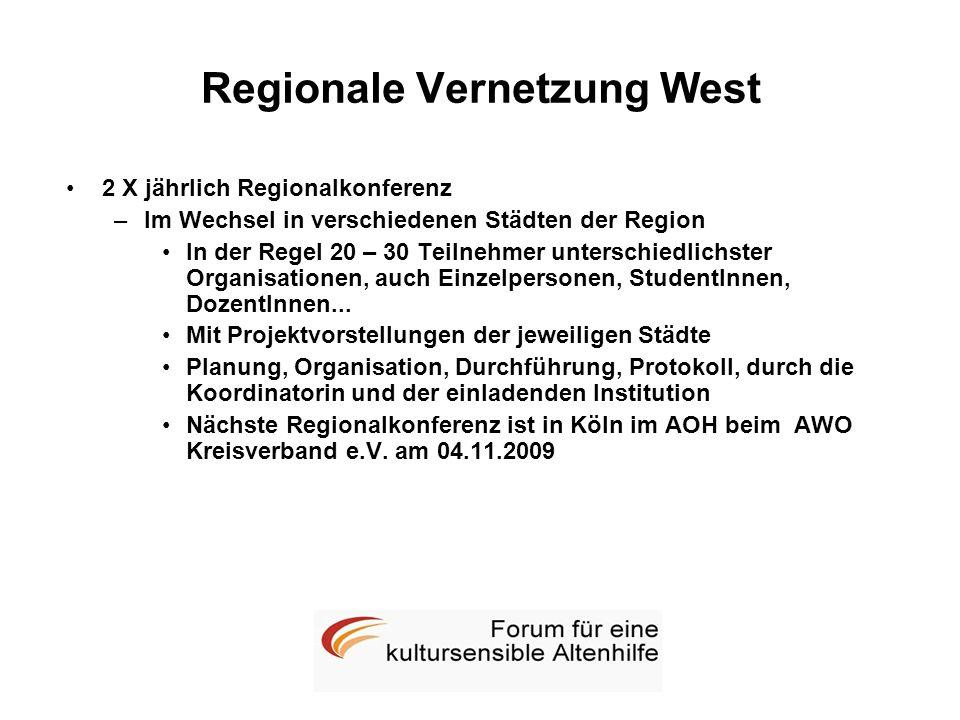 Regionale Vernetzung West