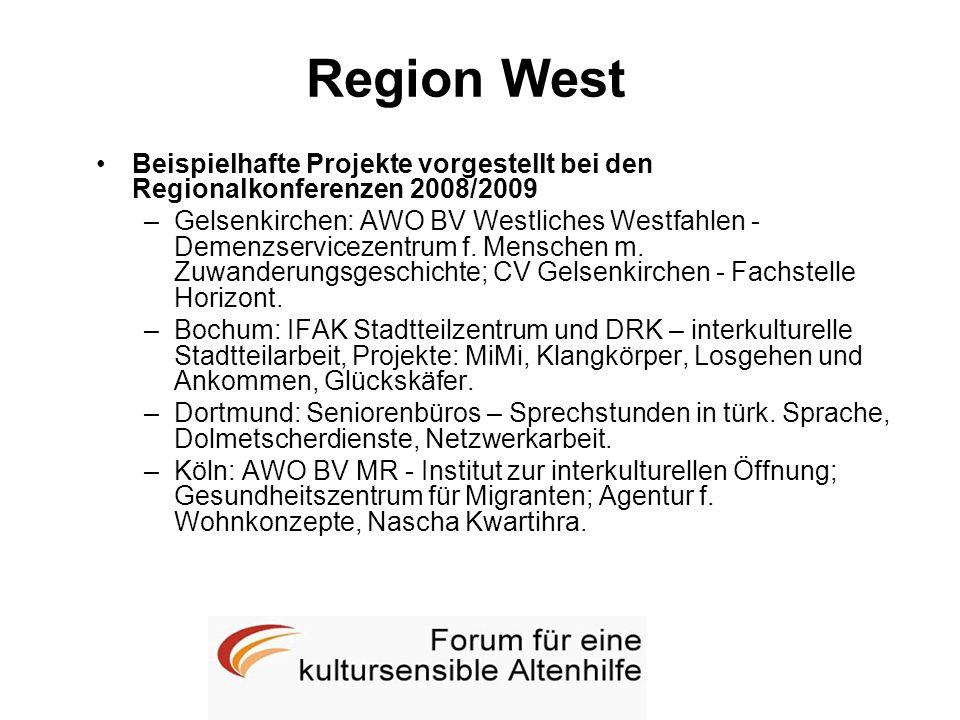 Region West Beispielhafte Projekte vorgestellt bei den Regionalkonferenzen 2008/2009.