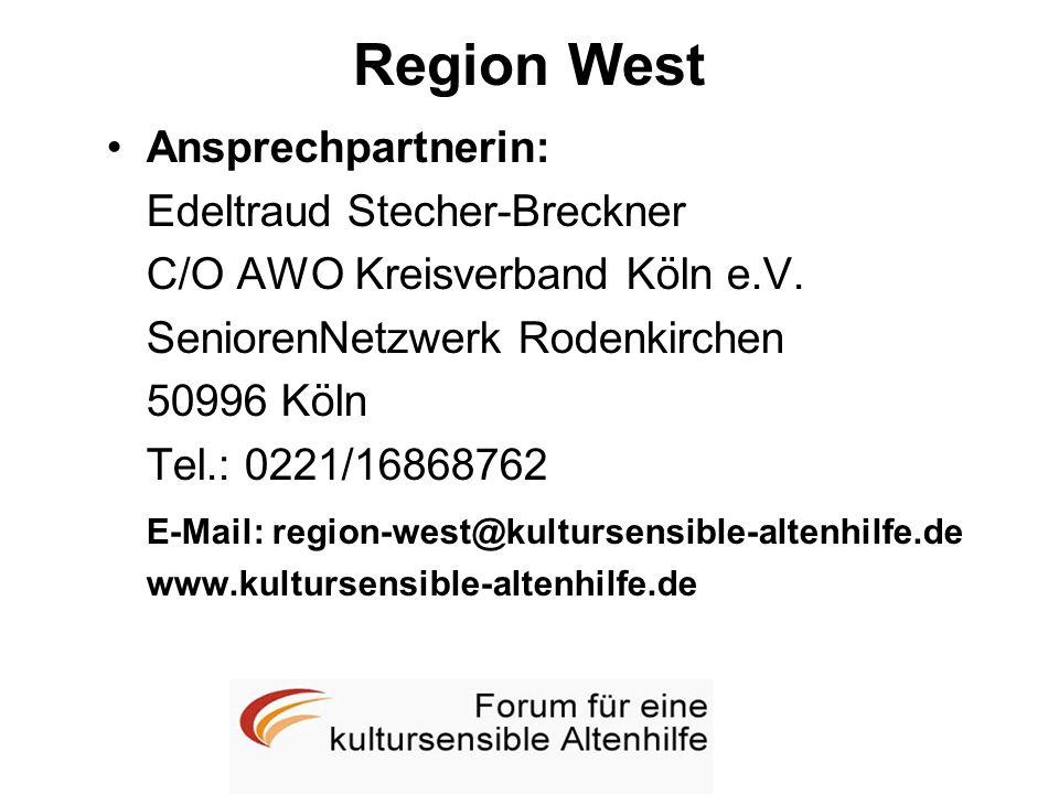Region West Ansprechpartnerin: Edeltraud Stecher-Breckner