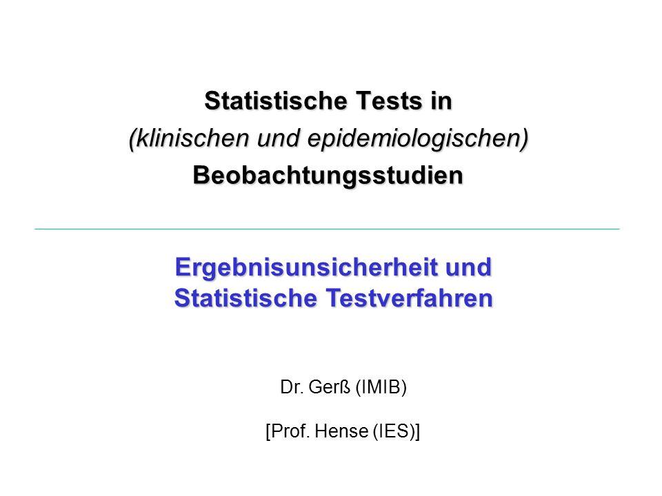 Ergebnisunsicherheit und Statistische Testverfahren