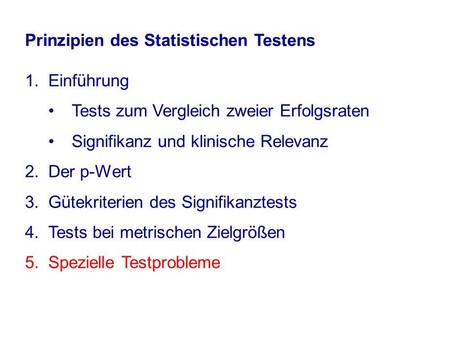 Prinzipien des Statistischen Testens