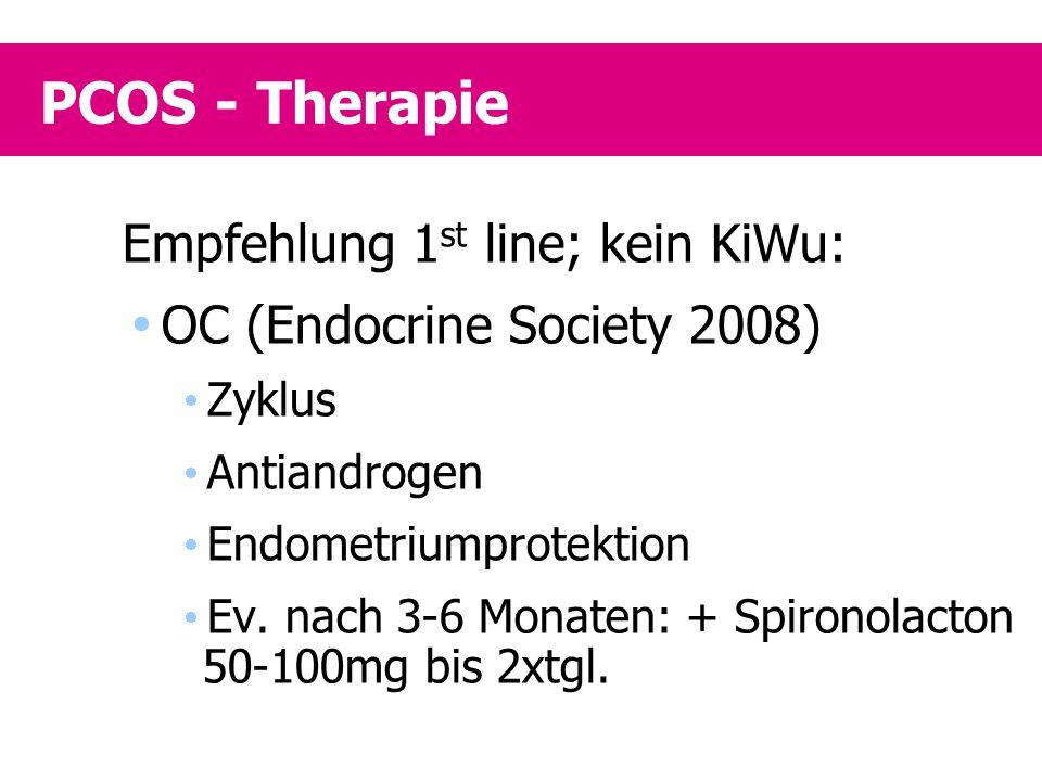 PCOS - Therapie Empfehlung 1st line; kein KiWu: