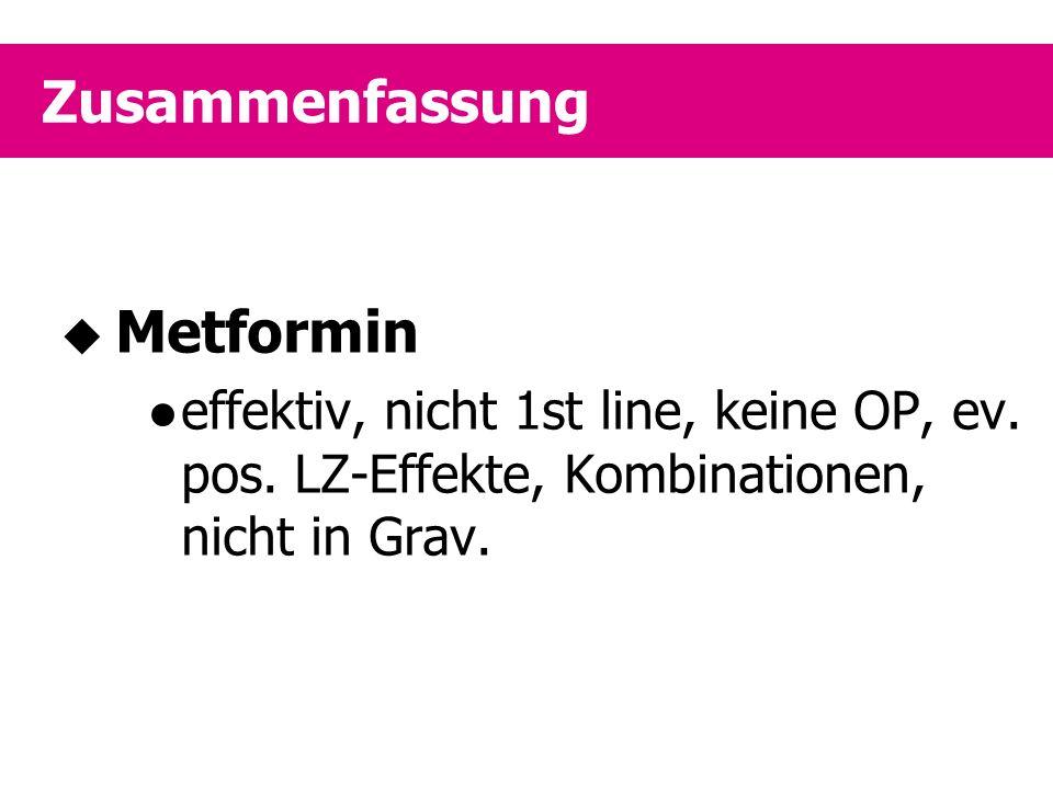 Zusammenfassung Metformin