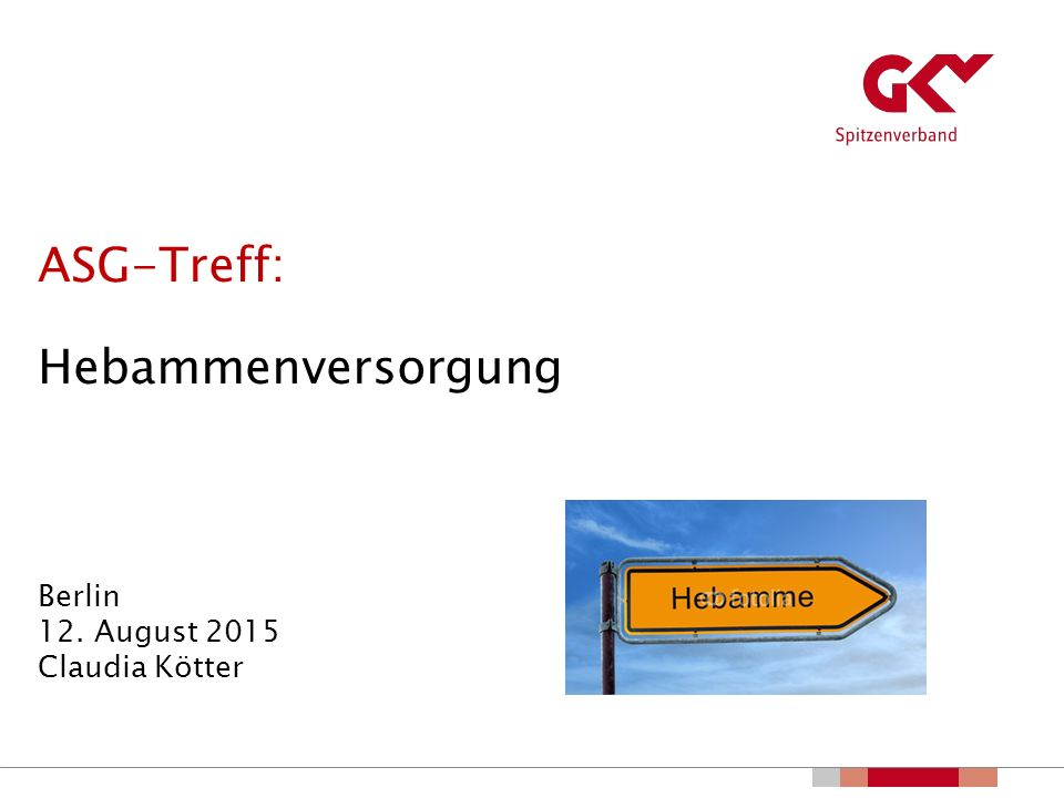 ASG-Treff: Hebammenversorgung