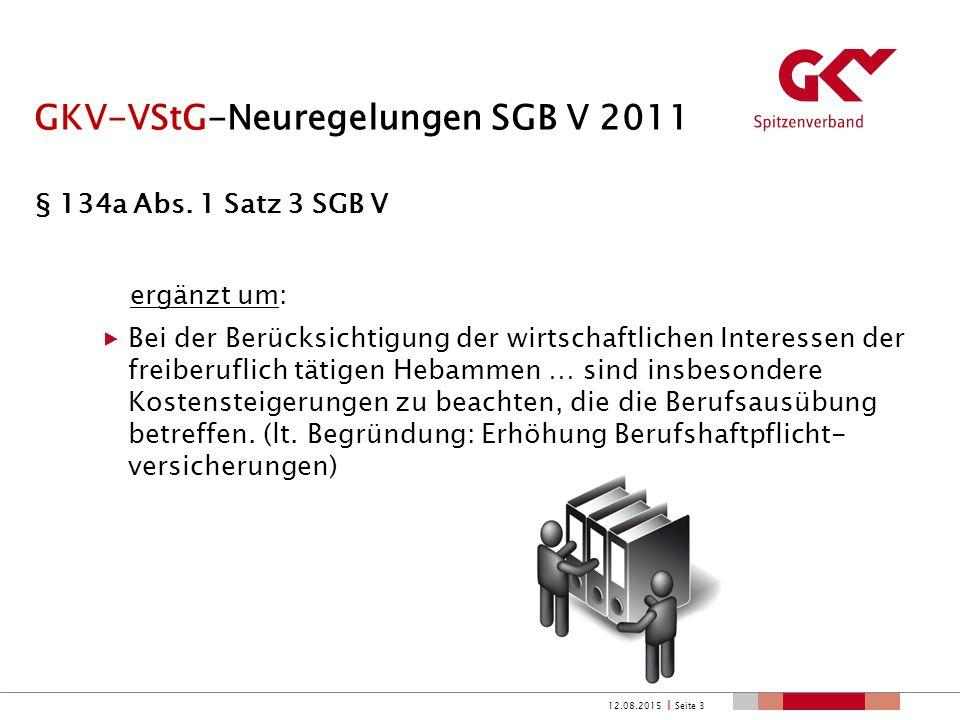 GKV-VStG-Neuregelungen SGB V 2011