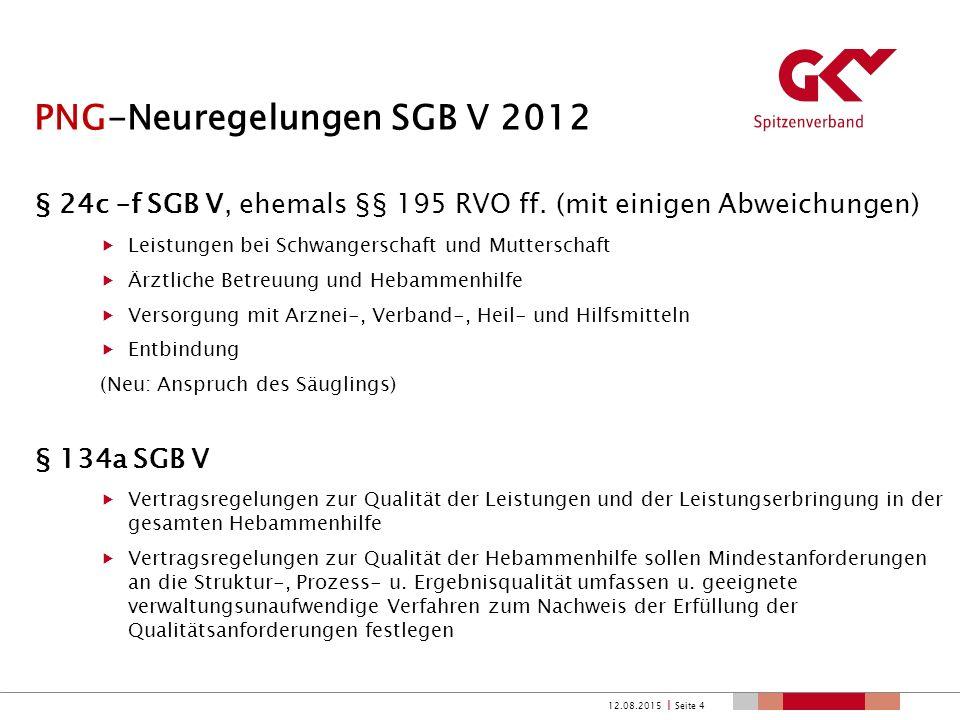 PNG-Neuregelungen SGB V 2012