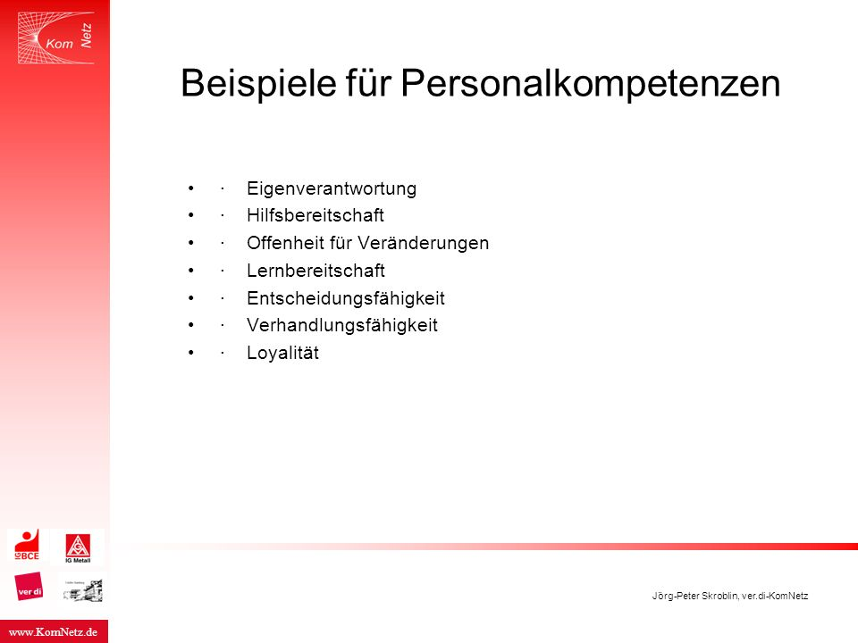 Beispiele für Personalkompetenzen