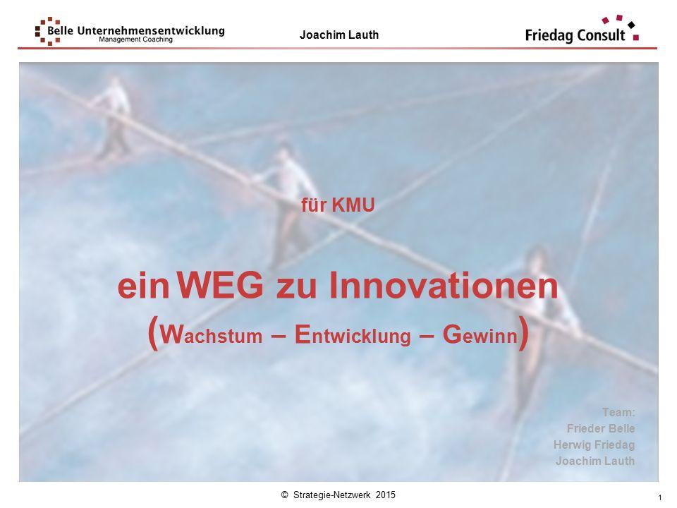 ein WEG zu Innovationen (Wachstum – Entwicklung – Gewinn)