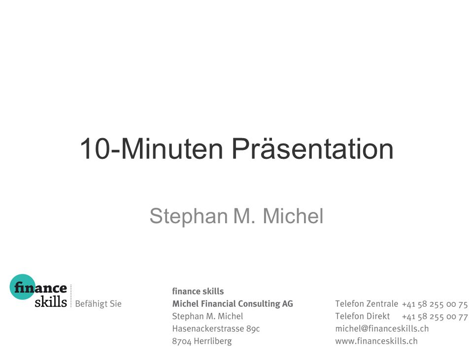 10-Minuten Präsentation