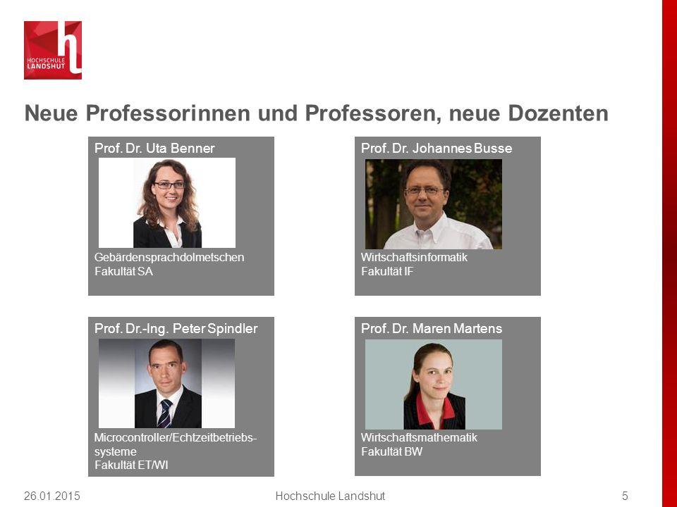 Neue Professorinnen und Professoren, neue Dozenten